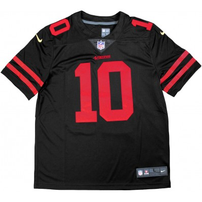49ers black and red jersey