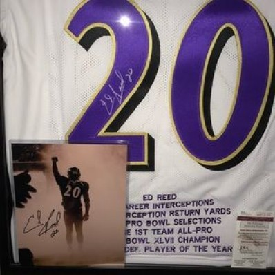 ed reed signed jersey