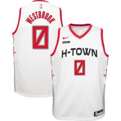 russell westbrook white jersey
