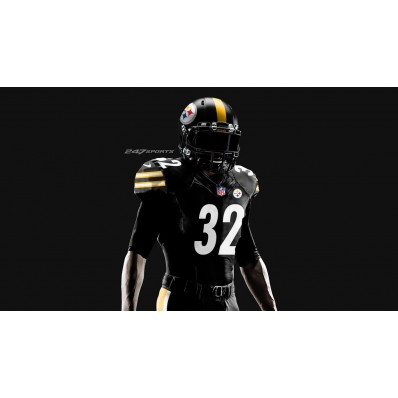 steelers all black color rush jersey